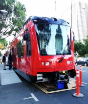 2013 - Siemens S70 rail car in downtown Riverside
