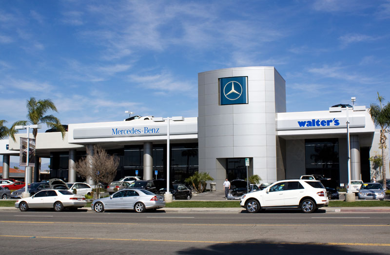 Riverside auto center nearing 50 years raincross square for Walter s mercedes benz riverside